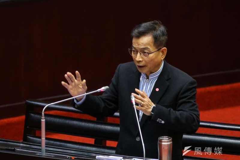 20200303-國民黨立委賴士葆3日於立院質詢。(顏麟宇攝)