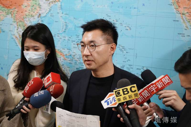 20200304-立委江啟臣4日於立院受訪,指出遭到抹黑文宣攻擊。(盧逸峰攝)
