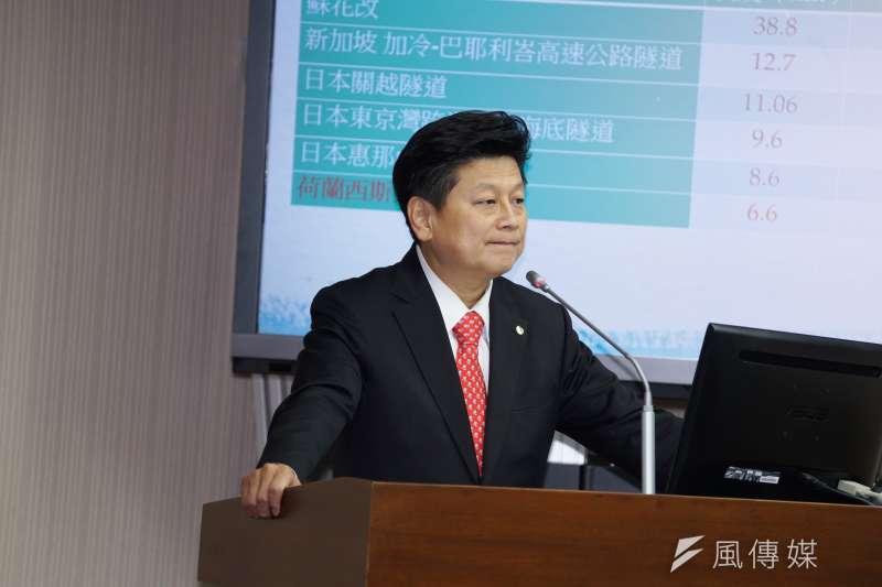 20200304-立委傅崐萁4日出席交通委員會質詢。(盧逸峰攝)
