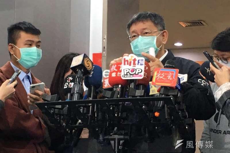 面對外界詢問防疫旅館為何不公開?台北市長柯文哲(見圖)表示,防疫旅館是中央、整個台灣的計畫,北市只是承辦單位。(方炳超攝)