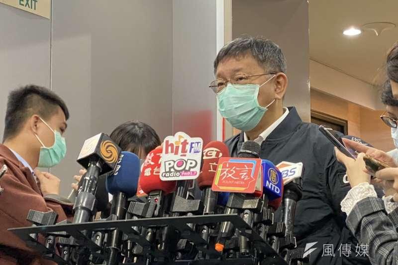 台北市府傳出要增加林珍羽、陳智菡兩位副發言人,對此,台北市長柯文哲今(4)日表示八字沒一撇。(方炳超攝)
