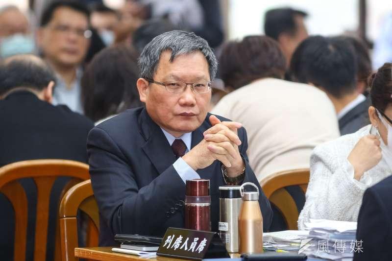 20200305-財政部長蘇建榮5日至財政委員會備詢。(顏麟宇攝)