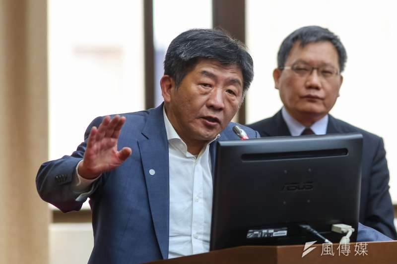衛生福利部長陳時中(見圖)5日表示,目前武漢肺炎國際疫情尚未達到高峰期,台灣目前的疫情在可控範圍。(顏麟宇攝)