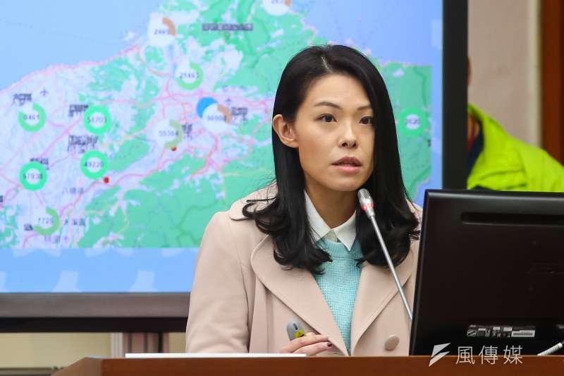民眾黨立委高虹安(見圖)秀出口罩銷售地圖系統,讓衛福部長陳時中相當好奇。(顏麟宇攝)