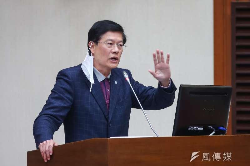 20200305-國民黨立委羅明才5日於財政委員會質詢。(顏麟宇攝)