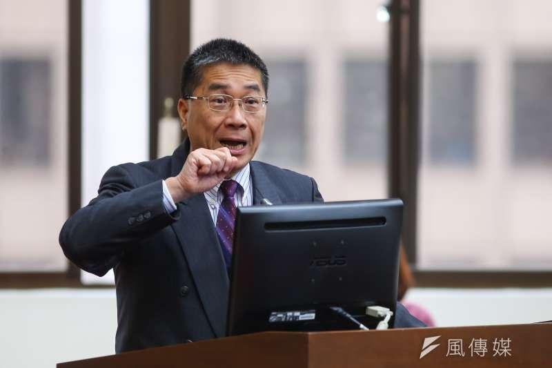 國民黨青年部主任蕭敬嚴批徐國勇,公布取消全國性酒測是因噎廢食。(資料照,顏麟宇攝)
