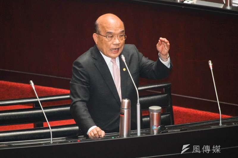 20200306-行政院長蘇貞昌於立院10屆一會期第三次會議接受備詢。(蔡親傑攝)
