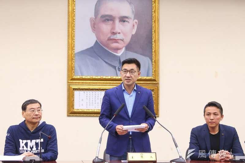 國民黨主席補選7日登場,江啟臣最終以68.8%得票率贏得勝利。(顏麟宇攝)