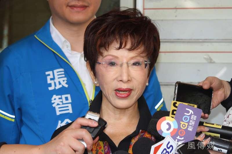 國民黨前主席洪秀柱(見圖)表示「中華民國憲法就是一中憲法」、「憲法所定的國家方向是終極統一」。(資料照,蔡親傑攝)