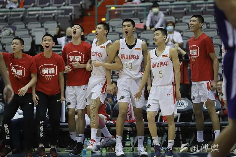 南山高中在男子組季軍戰擊敗東山高中,拿下本屆賽事季軍。(余柏翰攝)