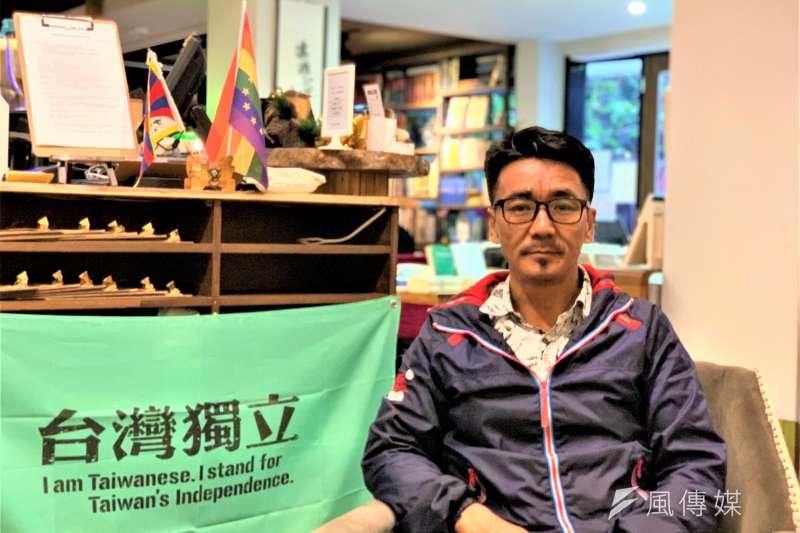 西藏抗暴61周年:流亡藏人第2代、西藏台灣人權連線理事長札西慈仁(簡恒宇攝)
