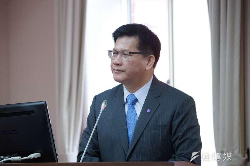 交通部長林佳龍(見圖)9日赴立法院交通委員會進行專題報告,會前接受媒體採訪。(盧逸峰攝)