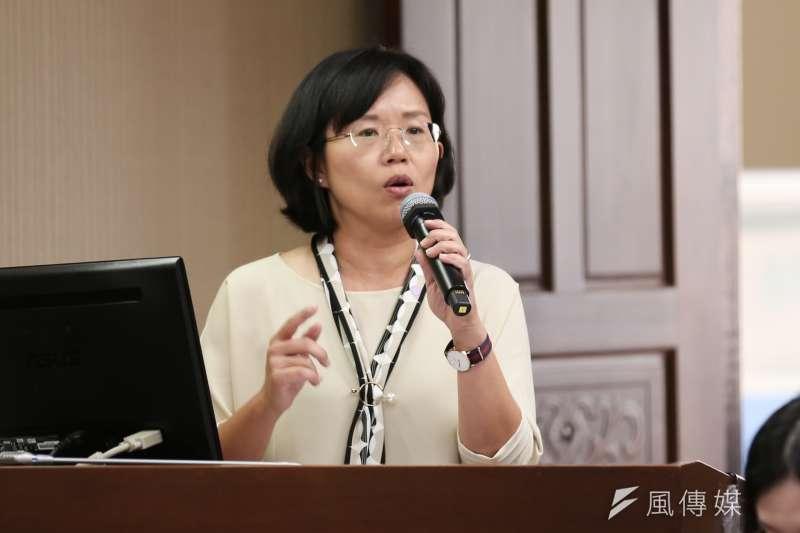 20200309-民進黨立委蘇巧慧9日至社福及衛環委員會進行質詢。(簡必丞攝)
