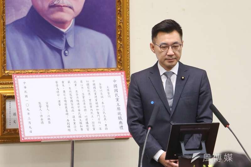 江啟臣成為國民黨來台後最年輕的黨主席,他的勝選代表國民黨青壯世代接班正式啟動。(顏麟宇攝)