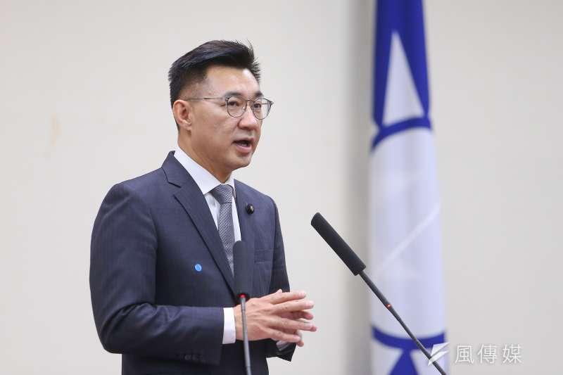 國民黨新任黨主席江啟臣(見圖)甫就職,就面對「罷韓」考驗。(資料照,顏麟宇攝)
