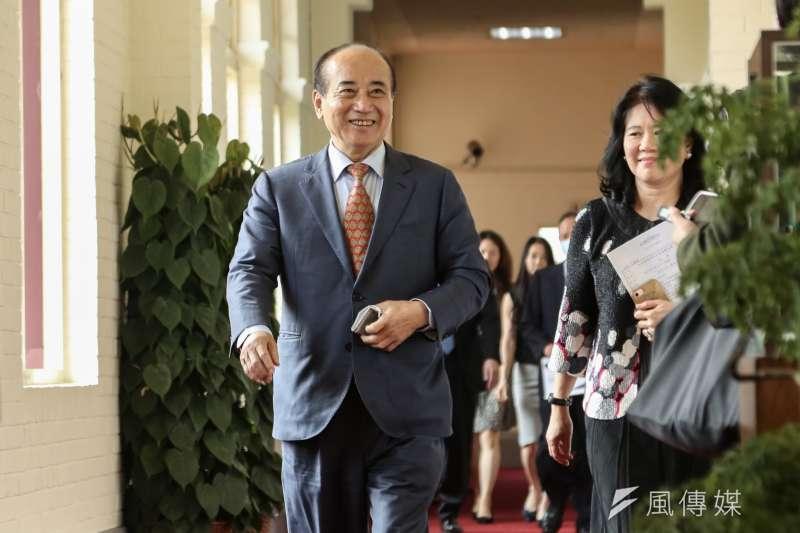 立法院前院長王金平(見圖)今(9)日受訪時表示,期待新主席帶領國民黨重新贏得人民信任和期待。(簡必丞攝)