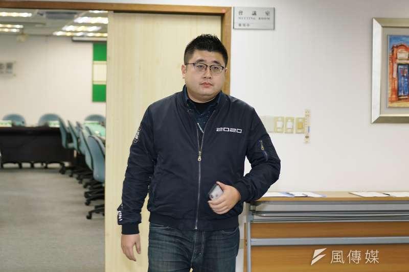 20200311-民進黨11日召開中常會,副秘書長林鶴明出席。(盧逸峰攝)