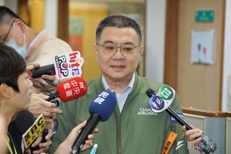 20200311-民進黨11日召開中常會,主席卓榮泰受訪。(盧逸峰攝)