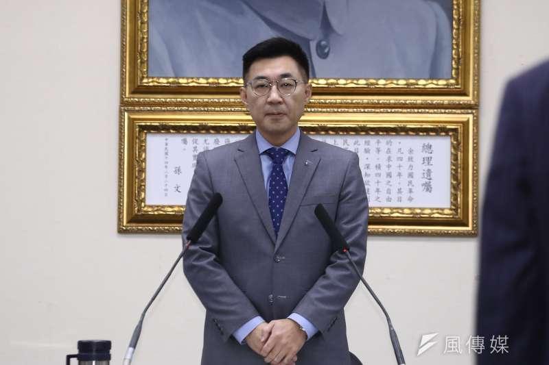 筆者認為國民黨主席江啟臣(見圖)意識到必須有論述是個好的方向,但可能落入「眾口難調」的困境。(資料照,陳品佑攝)