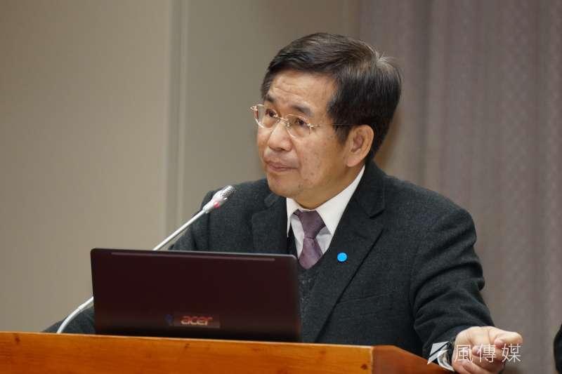 教育部長潘文忠11日於教育文化委員會備詢。(盧逸峰攝)