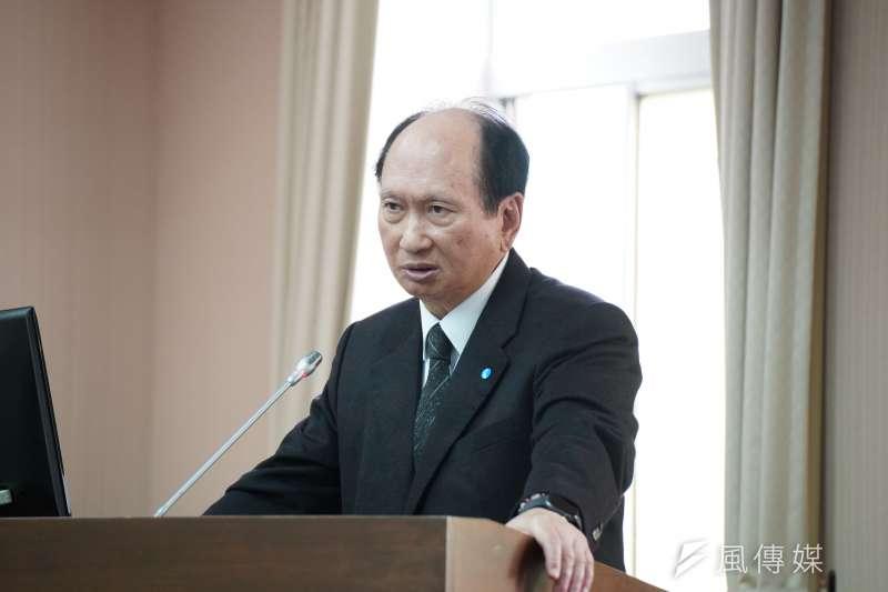 20200311-工程會主委吳澤成11日於交通委員會備詢。(盧逸峰攝)