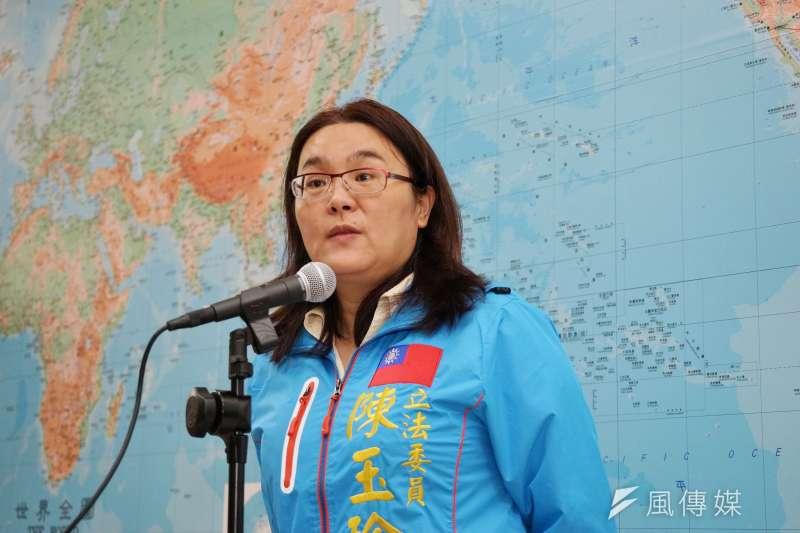 遭指控學歷造假,國民黨立委陳玉珍24日在臉書發文澄清。(資料照,盧逸峰攝)