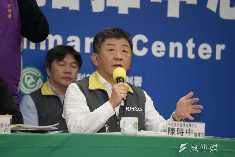 中央流行疫情指揮中心指揮官陳時中(見圖)認為,台灣能在防疫上做出控制,主因之一是民眾普遍在健康管理等措施都配合良好。(盧逸峰攝)