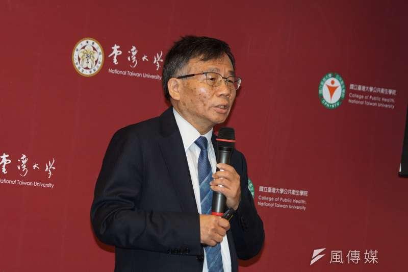 20200316-台大公衛學院16日舉行「抗COVID-19防疫整備說明會」,副院長陳秀熙發言。(盧逸峰攝)