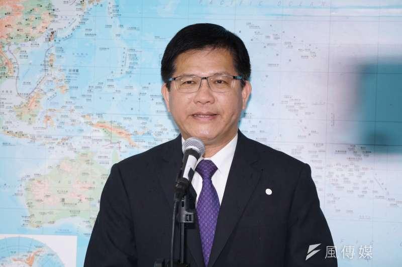20200319-交通部長林佳龍19日受訪。(盧逸峰攝)