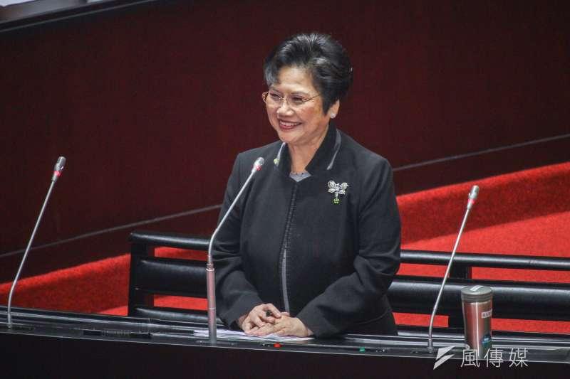 20200320-立委溫玉霞進行立院10屆1會期第5次會議質詢。(蔡親傑攝)