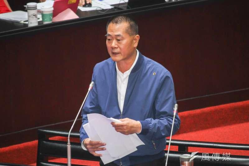 20200320-立委林文瑞進行立院10屆1會期第5次會議質詢。(蔡親傑攝)
