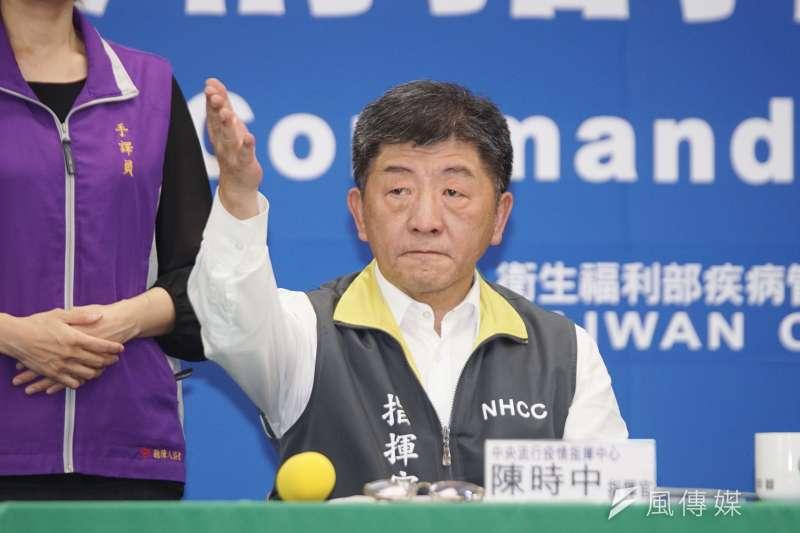 中央流行疫情指揮中心指揮官陳時中(見圖)2度受日本公共電視台NHK專訪,表示自己很開心能分享台灣經驗。(資料照,盧逸峰攝)