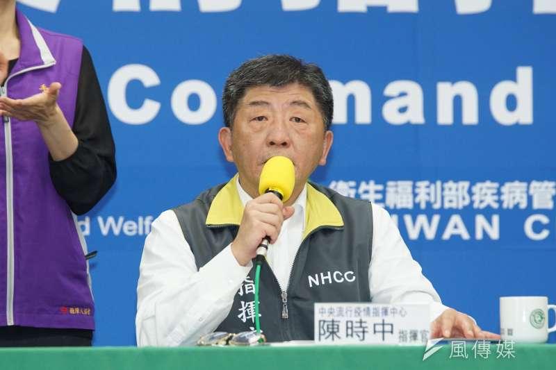 中央流行疫情指揮中心指揮官陳時中(見圖)表示,台灣去年就對世界衛生組織提出警告有疫情出現,但中方、世界衛生組織仍置之不理。(資料照,盧逸峰攝)