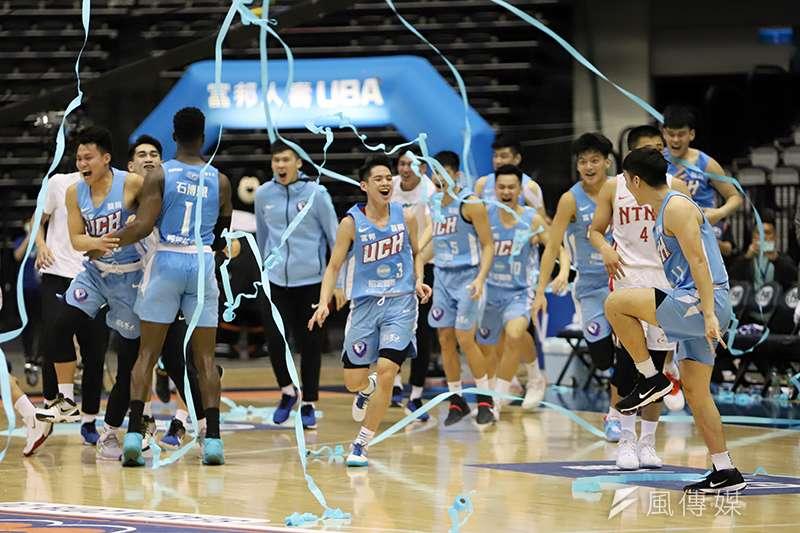 健行科大擊敗台灣師大,在108學年度大專籃球聯賽拿下冠軍,締造二連霸。(余柏翰攝)