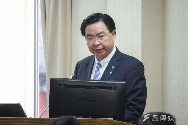 20200323-外交部長吳釗燮23日赴立法院外交委員會備詢。 (蔡親傑攝)
