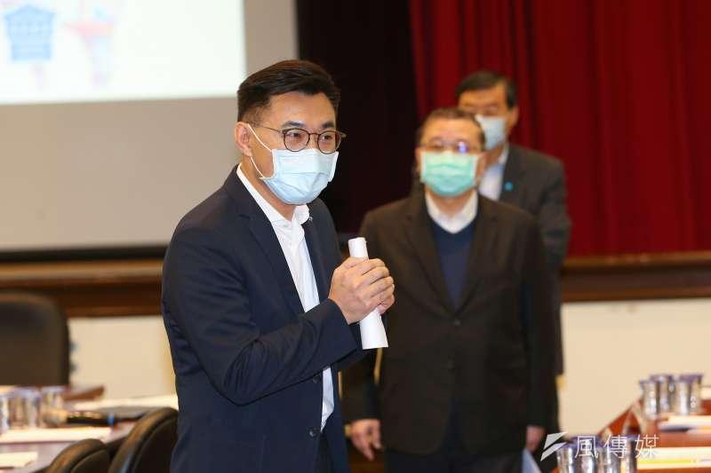 國民黨主席江啟臣(見圖)23日出席「共渡疫情國土安居」研討會。(資料照,顏麟宇攝)