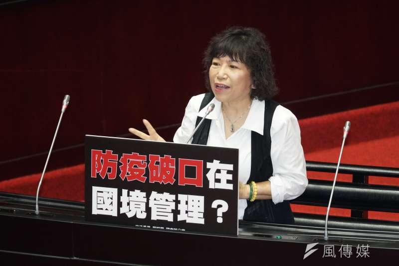 20200324-立委葉毓蘭24日出席施政總質詢。(盧逸峰攝)