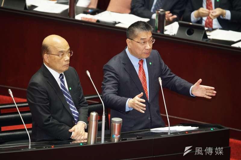 警界人事案,讓行政院長蘇貞昌與內政部長徐國勇不合投上檯面。(盧逸峰攝)