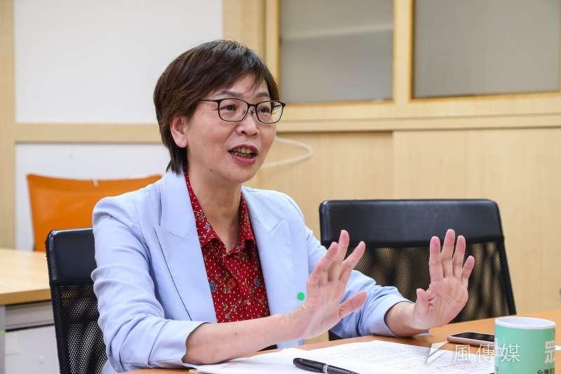 立委蔡壁如24日接受《風傳媒》專訪,回應罷韓等相關問題。(顏麟宇攝)