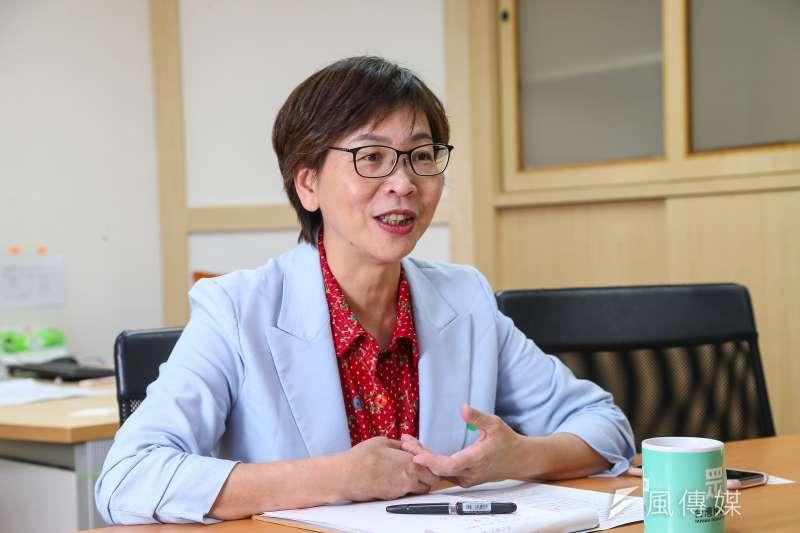 從台北市政府到前進國會,民眾黨立委蔡壁如24日接受《風傳媒》專訪時談及角色轉換的心情。(顏麟宇攝)