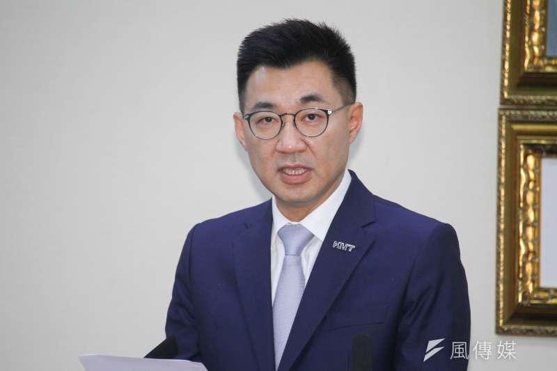 20200325-國民黨主席江啟臣25日主持中常會。 (蔡親傑攝)