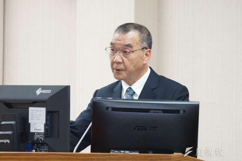 20200325-國安局局長邱國正25日出席外交國防委員會備詢。(盧逸峰攝)