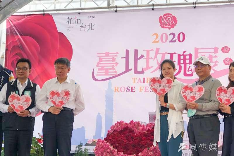 20200325-台北市長柯文哲25日上午出席2020台北玫瑰展開幕式活動,並於會後受訪。(方炳超攝)