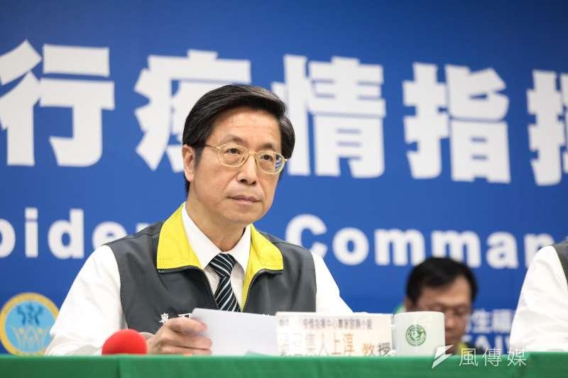 中央流行疫情指揮中心專家諮詢小組召集人張上淳(見圖)今(28)日表示,新冠肺炎仍有可能透過氣溶膠傳播。(資料照,指揮中心提供)