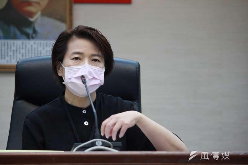 20200326-台北市政府26日下午再召開疫情小組應變會議,台北市副市長長黃珊珊說明北市防疫狀況。(方炳超攝)