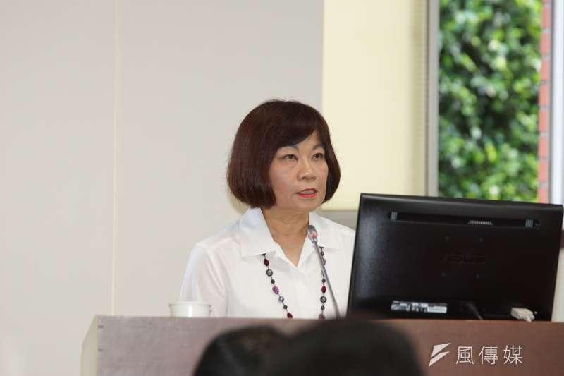 20200326-國發會主委陳美伶26日前往立院備詢。(盧逸峰攝)