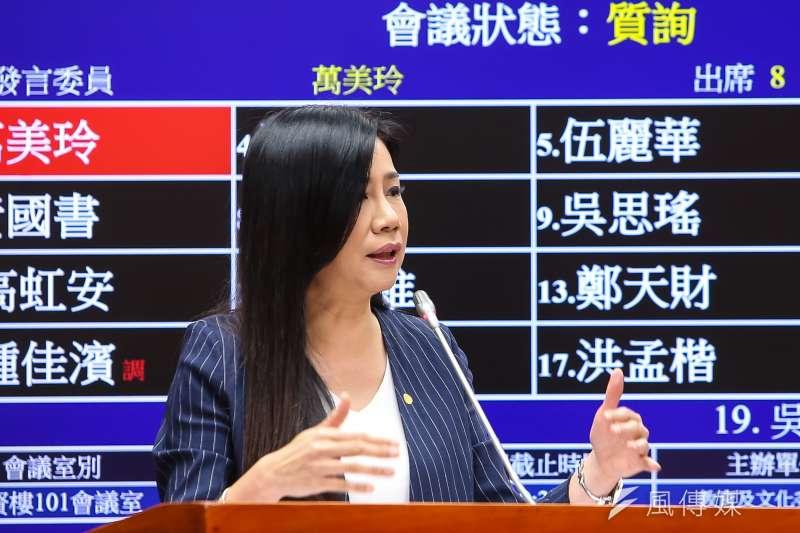 20200326-國民黨立委萬美玲26日於教育文化委員會質詢。(顏麟宇攝)