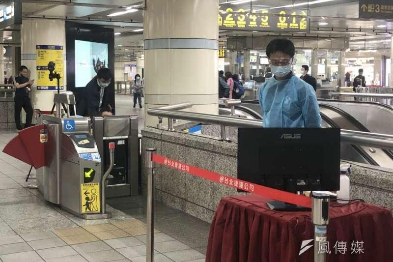 4月起搭乘大眾運輸都要量體溫。(圖/風傳媒攝影)