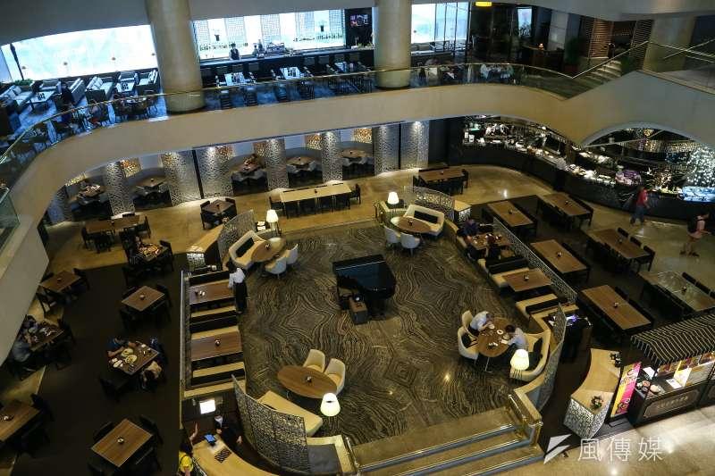20200327-台北晶華酒店一二樓用餐環境。(顏麟宇攝)