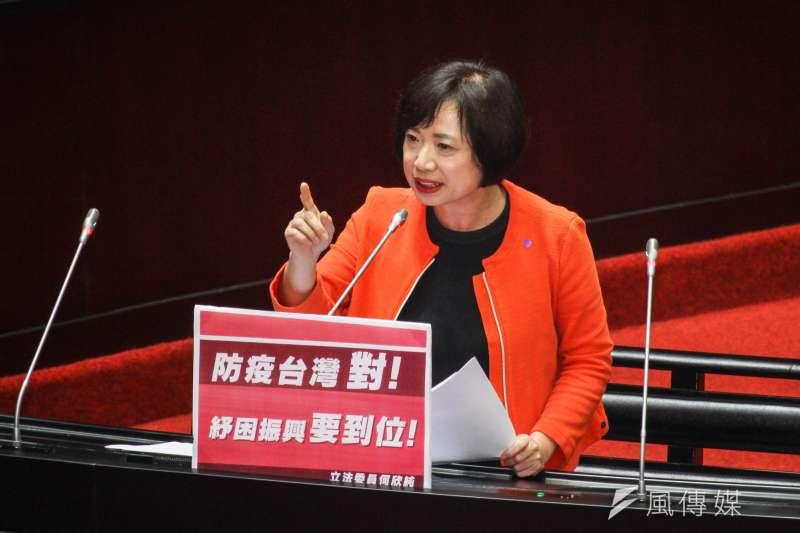 20200327-立委何欣純進行立院一會期第六次會議質詢。(蔡親傑攝)